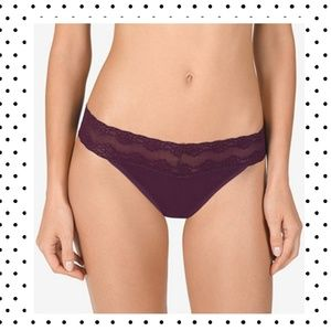 natori bliss perfection lace top thong pantyOS NWT